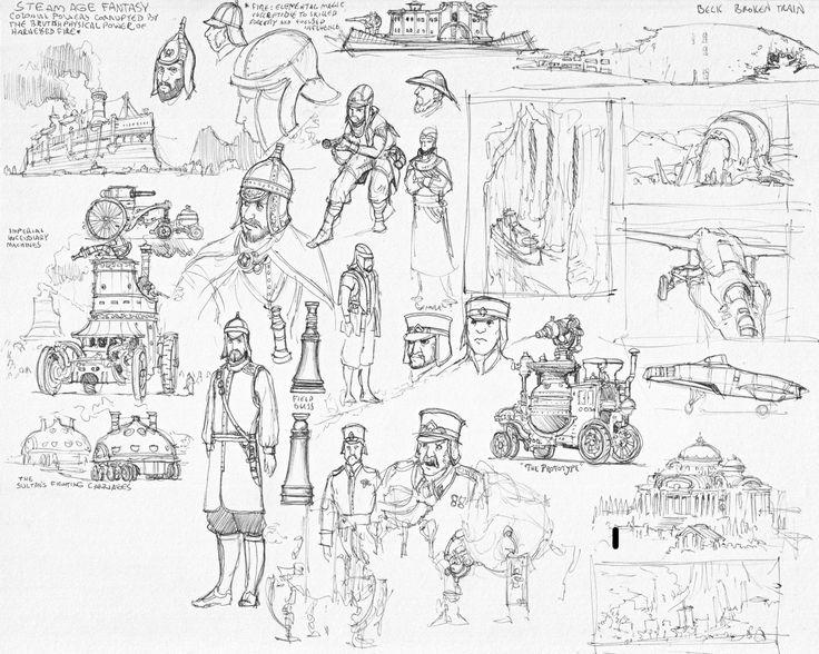 M.C.Barrett Concept Art Concept art, Art, Artist sketches