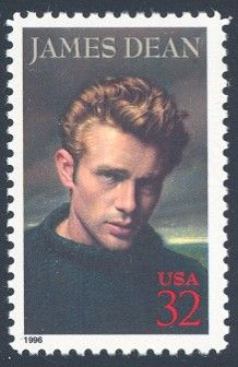 James Dean - Single Stamp 2nd in Legends of Hollywood Series United States, 1996