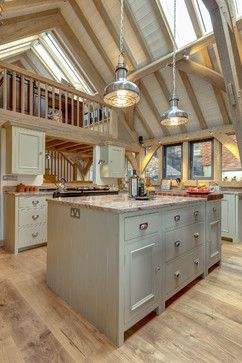 This beautiful Neptune Kitchen was designed by Distinctly Living of Dartmouth and expertly fitted into this wonderful Carpenter Oak kitchen/diner extension. Edwardian House overlooking the River Dart, Dartmouth, Devon. Colin Cadle Photography, Photo-Styling Jan Cadle