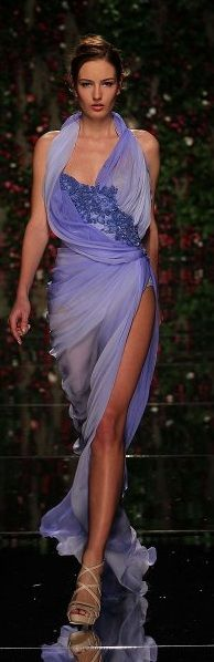Abed Mahfouz Couture - Gorgeous color, and I love the way it drapes across the body, it's very graceful <3