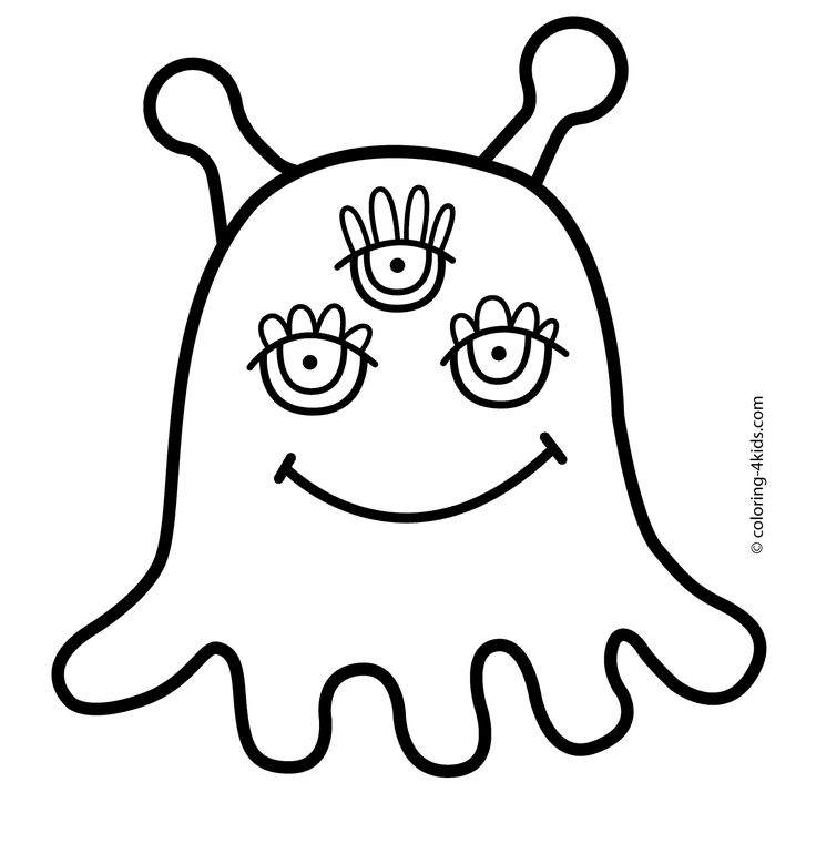 Alien coloring pages for kids, printable free