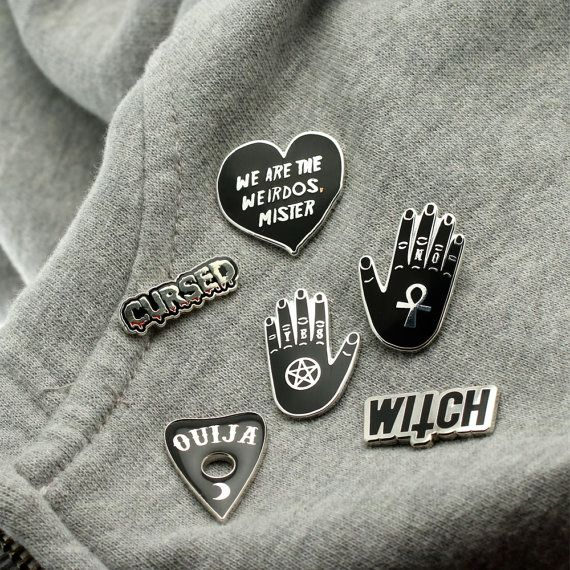 Witch Enamel Pin with clutch back // cult lapel pins by Punkypins