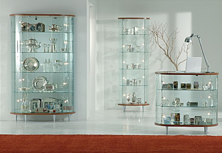 Glass display cabinet showcases with wooden structure glass showcase dining room top line 3 - Dining room showcase designs ...