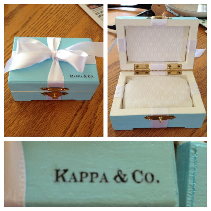 Kappa Kappa Gamma Tiffany & Co. inspired pin box I made for my twins!
