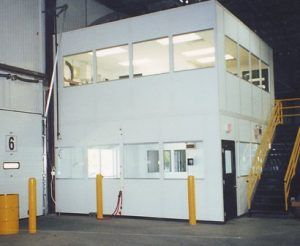 Mezzanine level modular offices are a great way to increase the amount of usable space on your warehouse floor!