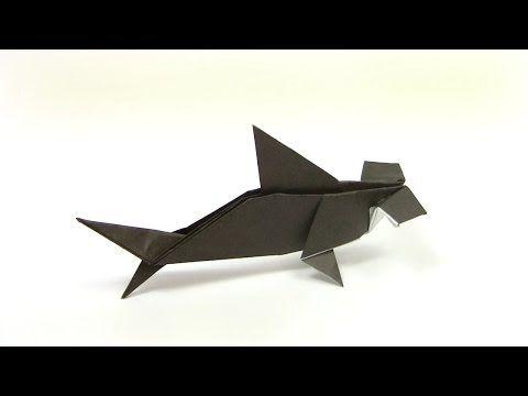 Оригами Акула-молот (Yukihiko Matsuno) - YouTube