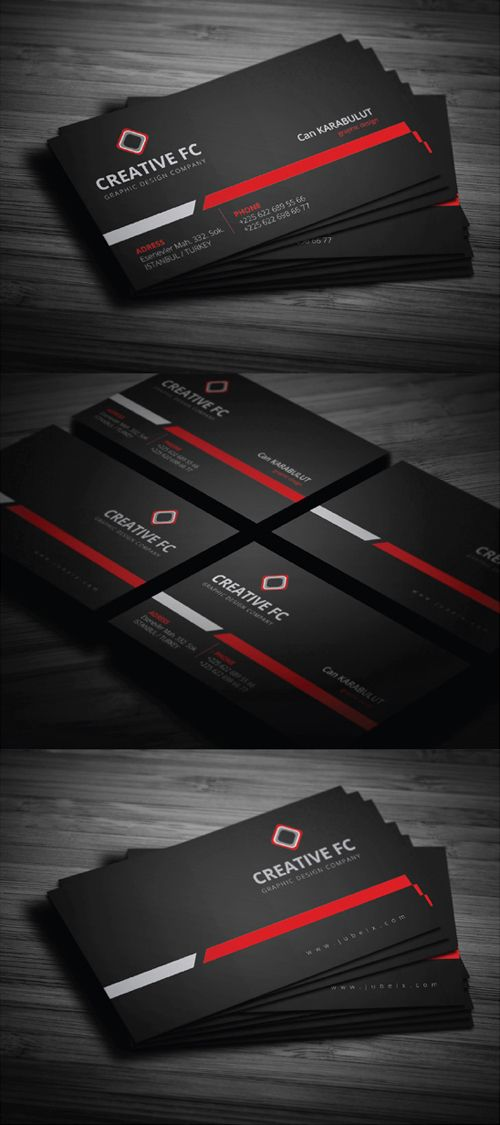 Creative FC Dark Business Card Design