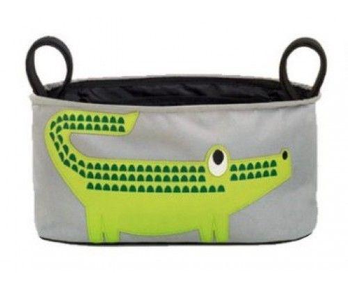 Babakocsi elejére tehető állatos táska - hasznos ajándék kismamáknak!
