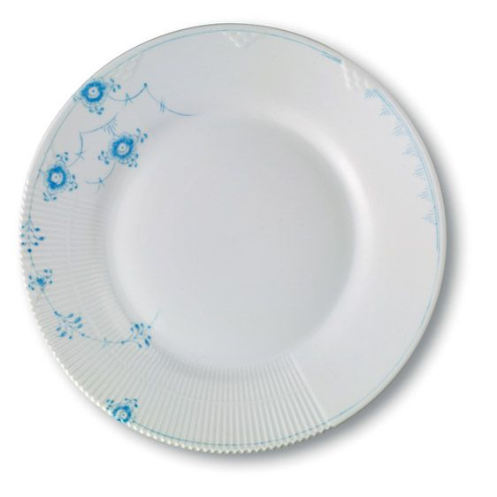 Dinner plate 25 cm sky  Musel malet, elements designed by Louise Campbell  Royal Copenhagen