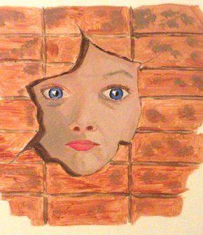 Ζωγραφική σε ξύλο με ακρυλικά χρώματα. Διαστάσεις 28cm x 28 cm