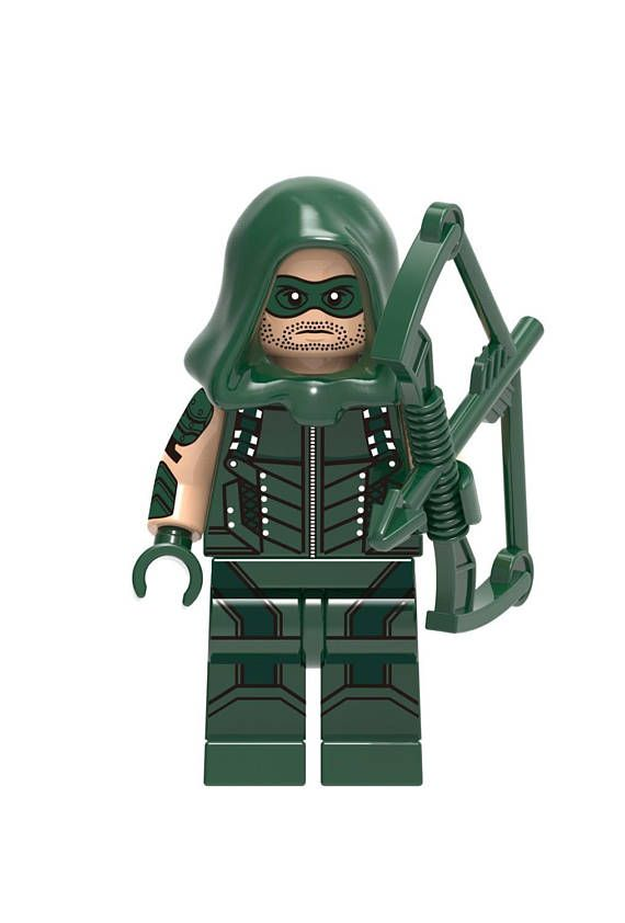 4e6944be4f1 Green Arrow  The ARROW Custom Minifigure 100% Lego Compatible ...