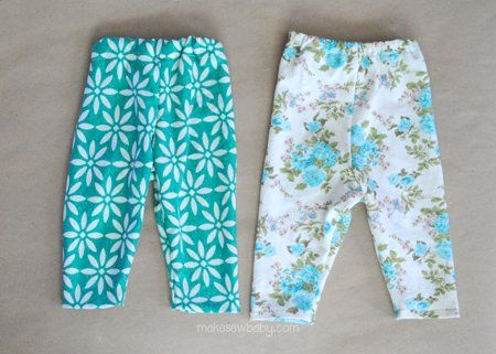 sewing baby leggings