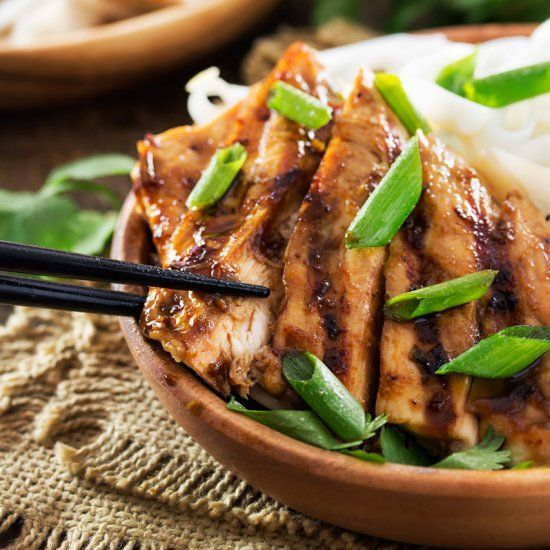 This ginger lemongrass marinated chicken is grilled to perfection and brushed with a finger licking teriyaki glaze!
