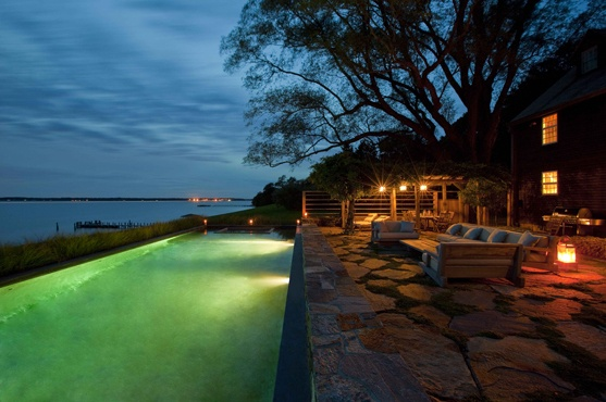 Shelter Island Pool | Andre Tchelistcheff Architects with Christian Liaigre | Archinect