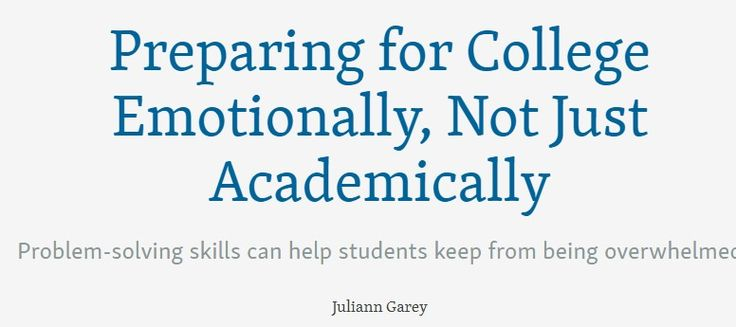 Preparing for College Mental Health, not Just Academics