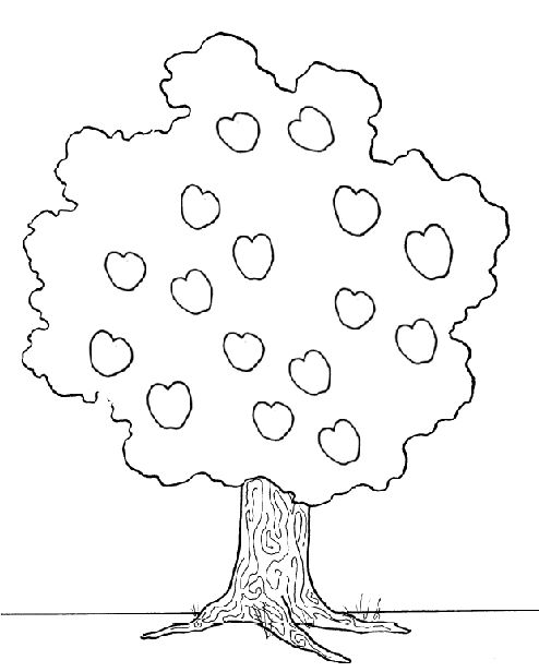 Printable Pictures Apple Tree Coloring
