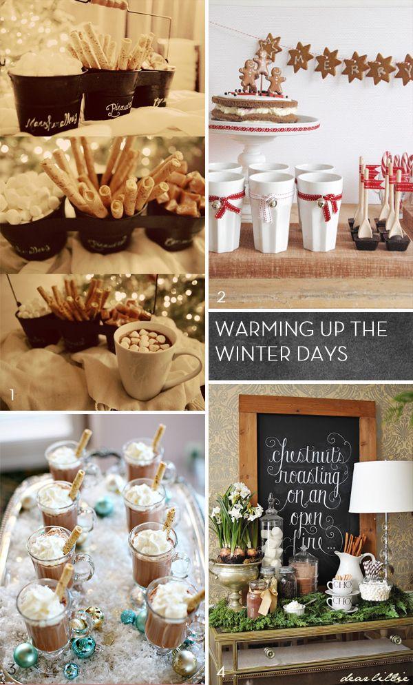 Hot Chocolate Bar | Fairly Light fun idea for a winter shower baby or wedding