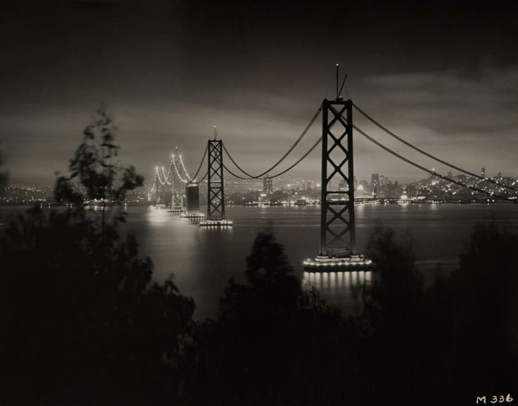 The San Francisco-Oakland Bay Bridge from Yerba Buena Island in 1936. PHOTOGRAPH BY THE CALIFORNIA STATE DEPARTMENT OF PUBLIC WORKS