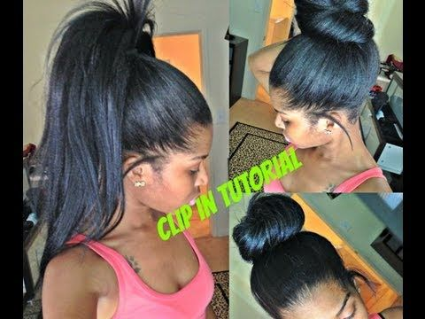 High Ponytail And Bun with Clip Ins - No Lumps [Video] - Black Hair Information