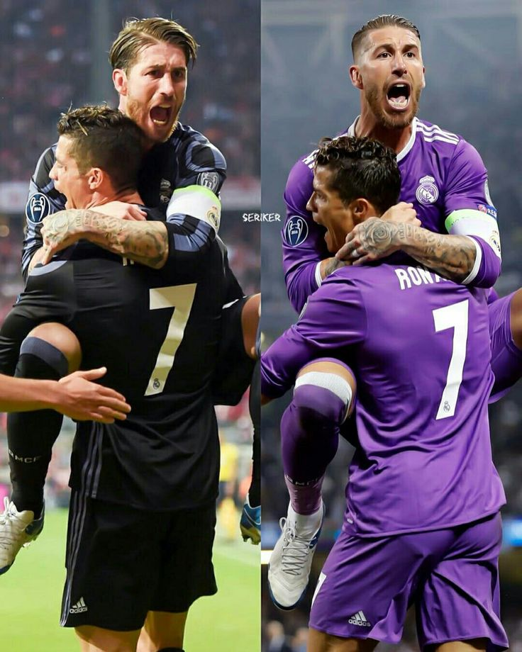 Sergio Ramos and Cristiano Ronaldo Real Madrid