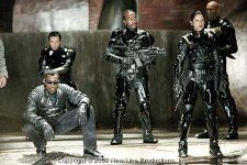 (left to right) Wesley Snipes, Donnie Yen, Danny John Jules, Leonor Varela, and Daz Crawford star in New Line Cinema's action thriller, BLADE II.