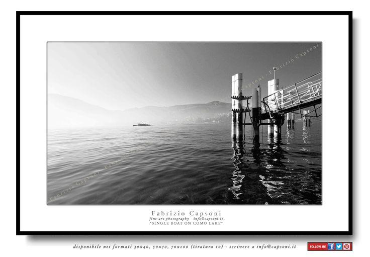 """""""Single boat on Como Lake"""" - ©2007 FABRIZIO CAPSONI - Fine Art Giclée Print on cotton paper - Limited edition - #fotografia #fineart #art #Interiors #homedecor"""