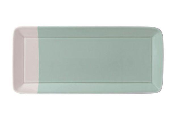 Rectangular Tray, Green: Kitchens, Green Royals, Rectangular Trays, Royal Doulton, Royals Doulton, Ceramics, Rectangular Colorblock, Trays Green, Colorblock Trays