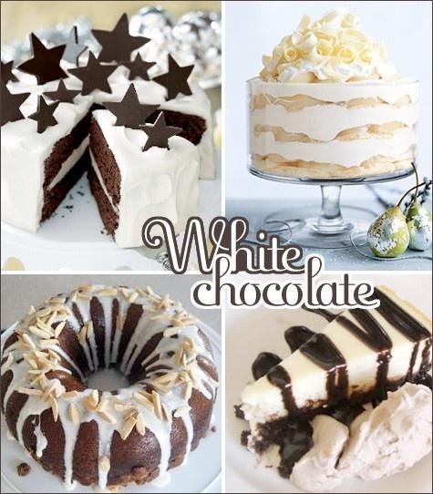 white Chocolate Christmas desserts