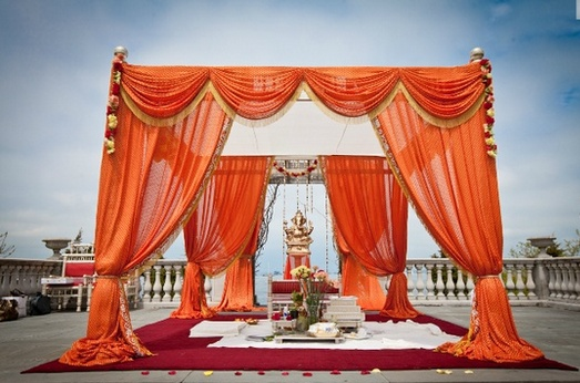 great color for outside wedding