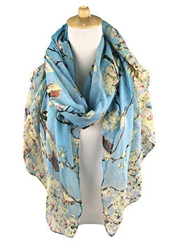 GERINLY Scarfs for Women Lightweight Floral Birds Print Shawl Head Wraps – Size: 35.4″Wx70.9″L(90CMx180CM). Mother's Day idea for every superwoman on your list: yours, new moms, mother-in-laws, grandmas, wives… – Material: Voile, cozy thin fabric, warm in winter, ventilated during summer. – Used For: Wrap, Shawl, Scarf, Beach Cover Up, Head Scarves, Handbag Accessories…