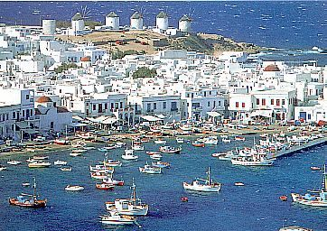 I've always wanted to travel to Greece! (Mykonos island in Cyclades, Greece).
