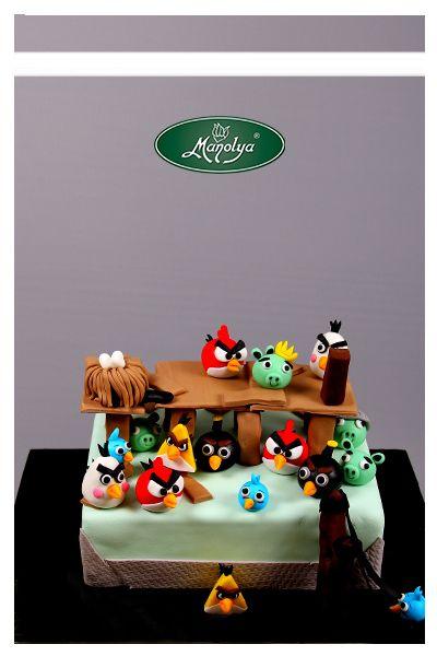 #manolyapastanesi #patisserie #istanbul #cake #cakedesign #angrybirds #yummy #celebration #celebrationcake