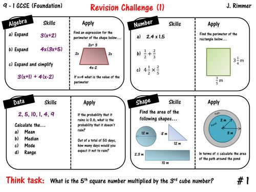 10 best gcse maths revision 9 1 resources images on pinterest gcse gcse maths revision foundation 9 1 placemats fandeluxe Images