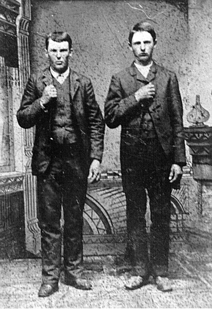 Rare Photo of Jesse James and his brother Frank James 1863