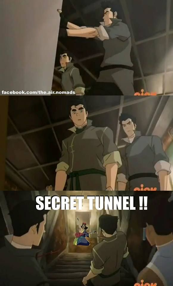 Legend of Korra/ Avatar the Last Airbender: Secret Tunnel!!