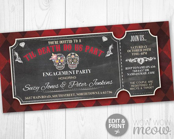 45 best Halloween Party Invitations images on Pinterest - free engagement party invites