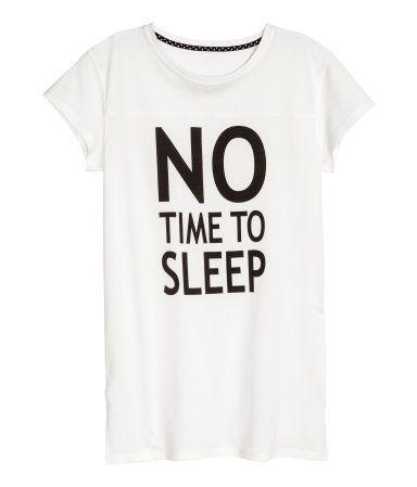 Nachthemd met print   Wit   Kinderen   H&M NL