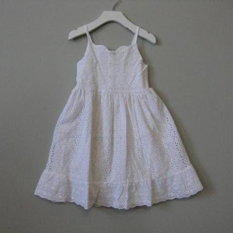 Cotton Kids White Strappy Eyelet Dress - Size 7, 10 : Designer Classic Clothes Fashions Unique Toys Accessories Cute Pretty Baby Boy Girl Boutique Swimsuits European Christening Gowns Wooden Gifts Gowns Totes Columbus Powell Ohio Dublin Delaware New Albany Westerville Clothing