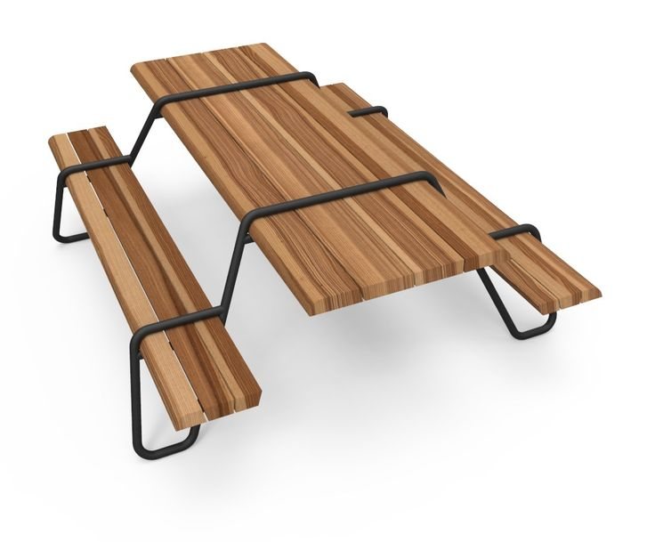 CLIP-BOARD Picnic table Clip-board Collection by Lonc design Patrick Kusters