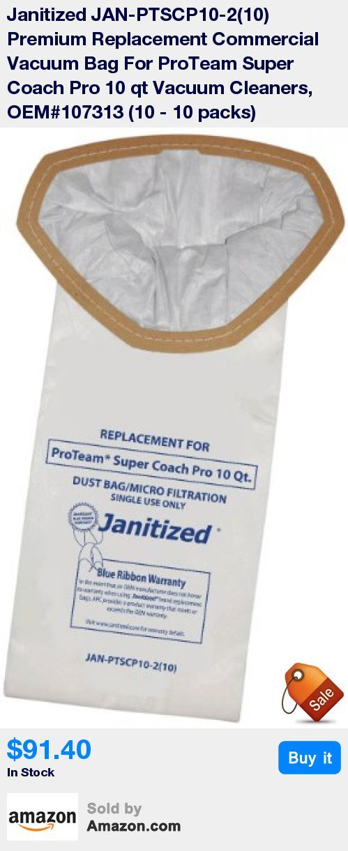 Premium replacement commercial vacuum bag can be used for ProTeam Super Coach Pro vacuum cleaners * 2 ply, micro filter designed specifically for commercial use * Premium filter bag that meets or exceed OEM filter efficiency * Each filter bag is printed to easily identify the vacuum it fits