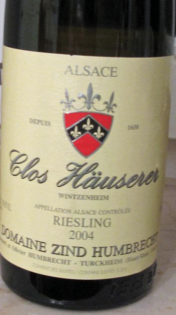 Riesling. Clos Hauserer 2004, Domaine Zind Humbrecht