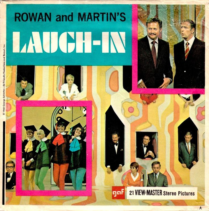 ROWAN & MARTIN'S LAUGH-IN View-Master set 1968 (minkshmink)