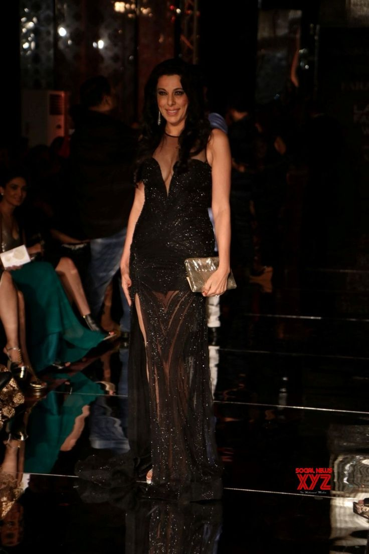 Mumbai: Pooja Bedi during the Lakme Fashion Week Winter/Festive 2017 - Social News XYZ