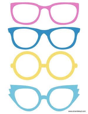 Glasses from New 2015 Cinderella Inspired Printable Photo Booth Prop Set