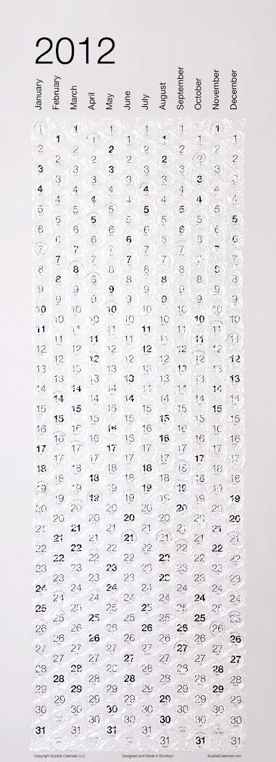Bubble Calendar 2012
