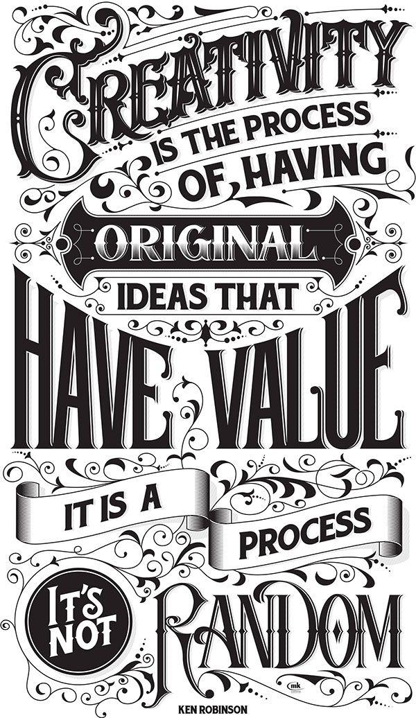 ERICLUAN - betype: Creativity qoute by Ken Robinson...
