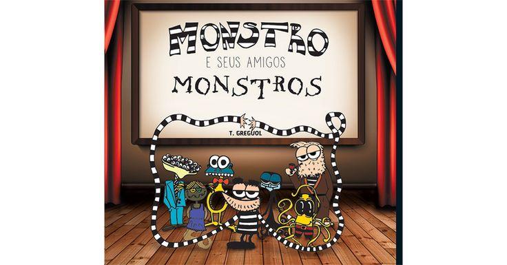 """""""Monstro e Seus Amigos Monstros"""" é um livro escrito, ilustrado e colorido por mim. Um livro sobre amizade, aceitação e monstros."""