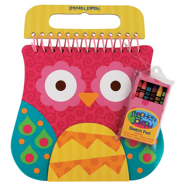 Shaped Sketch Pad - Owl, Activity Kits