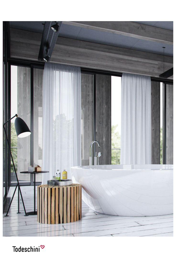 Baños amplios y modernos diseñados para que sientas una sensación de bienestar y relajación. #Diseñodeinteriores #Decoración #Todeschini #ambientes #mueblesamedida #arquitectura #baño