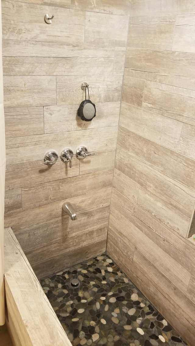 Just Finished The Custom Shower Bathtub In My Apartment All Made